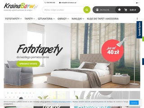KrainaBarw.pl - sklep internetowy z fototapetami
