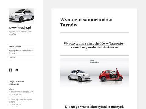 Krasje.pl wynajem samochodów Tarnów