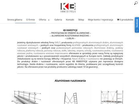 Kb-inwestycje.pl podesty robocze