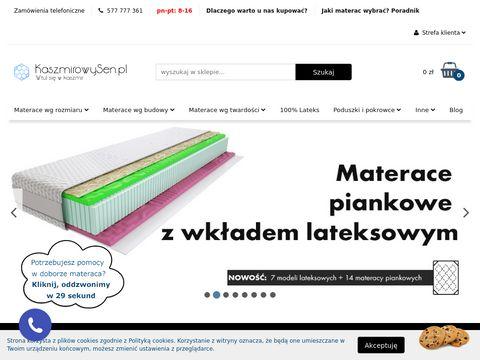 Kaszmirowysen.pl materace na wymiar
