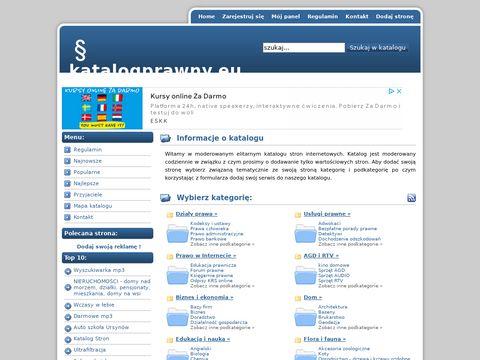 Płatny katalog stron katalogprawny.eu