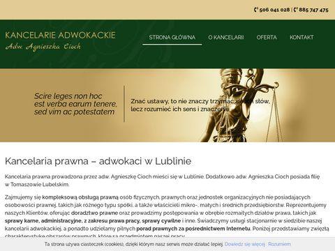 Kancelariaadwokackalublin.pl