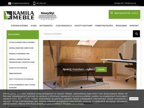 Kamila Meble - Krzesła biurowe, fotele biurowe, meble