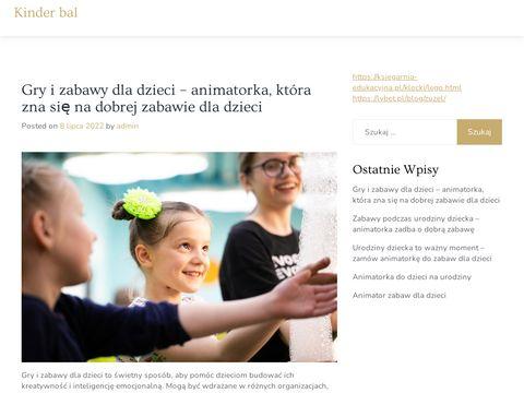 Kinderbal.bialystok.pl animator zabaw dla dzieci