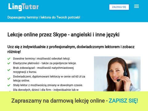 E-korepetycje online przez Skype z angielskiego