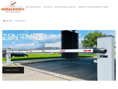 Koralewscy.pl szlabany