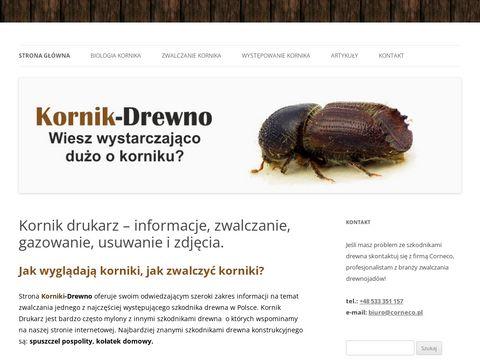 Korniki-drewno.pl Zwalczanie, biologia, informacje