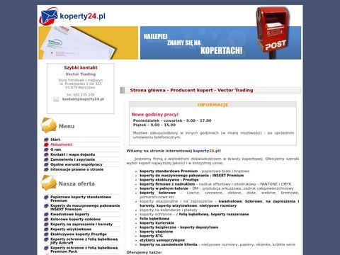 Koperty24.pl - koperty z nadrukiem