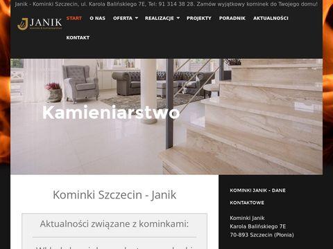 Kominki-janik.pl usługi kamieniarskie w Szczecinie