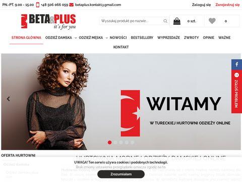 Beta Plus hurtownia internetowa odzieży damskiej