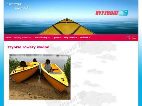 Hypeboat.com szybkie rowery wodne napędzane śrubą