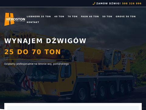 Heroston.pl usługi dźwigowe