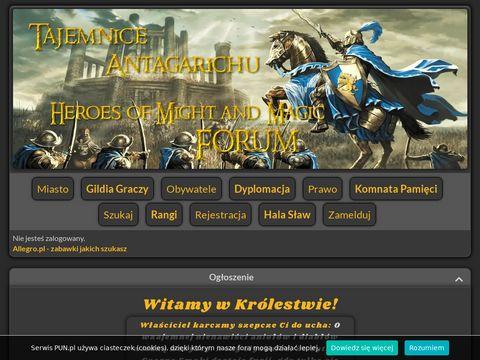 Herosy3.pun.pl tajemnice Antagarichu forum