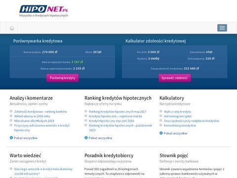 Hiponet.pl kredyty hipoteczne
