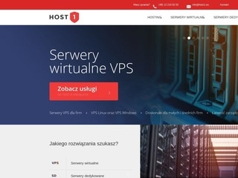 Host1.eu - serwery