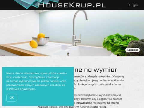 HouseKrup - elementy szklane Kraków