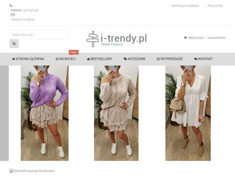 Modne sukienki - sklep i-trendy.pl