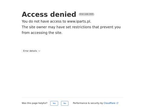 IParts.pl - części samochodowe nr 1