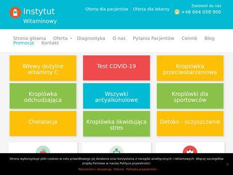 Instytutwitaminowy.pl kroplówki witaminowe