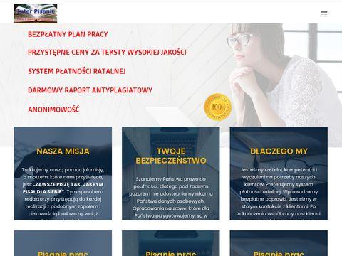 Interpisanie.pl prace licencjackie na zamówienie