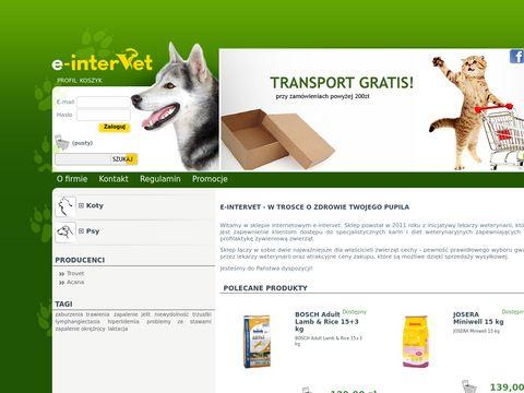 Intervet24 - karmy i diety dla zwierząt