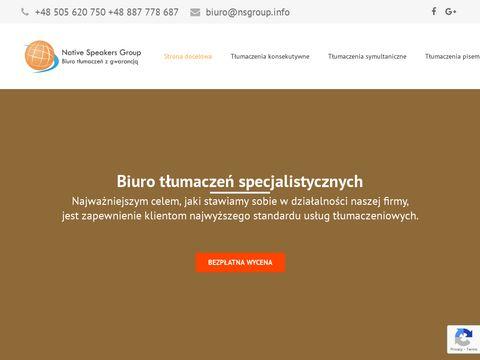 Nsgroup.info biuro tłumaczeń