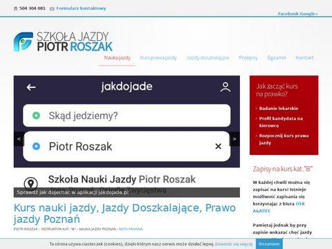 Naukajazdy-poznan.eu - Piotr Roszak