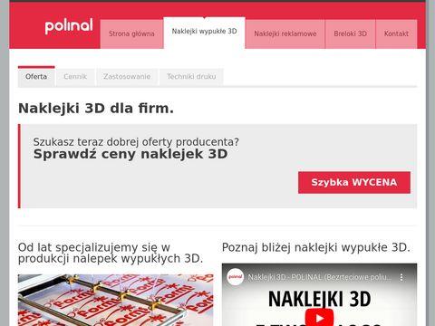 Nalepki3d.pl naklejki reklamowe wypukłe