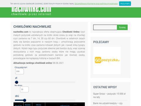 Nachwilke.com chwilówki