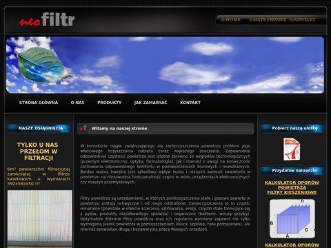 Neofiltr producent filtrów powietrza do wentylacji i klimatyzacji
