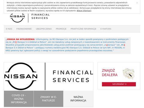 Nissanfinance.pl ubezpieczenie samochodu Nissan