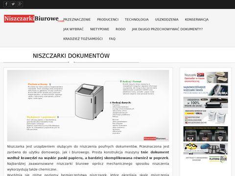 Niszczarkibiurowe.com - do biura i domu