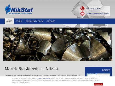 Nikstal.com.pl skup złomu Zawiercie Śląsk Katowice