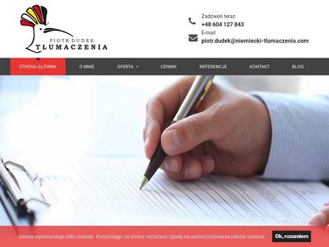 Niemiecki-tlumaczenia.com indywidualne lekcje