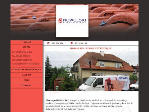 Nowulski - Czyszczenie dachów czyszczenie elewacji