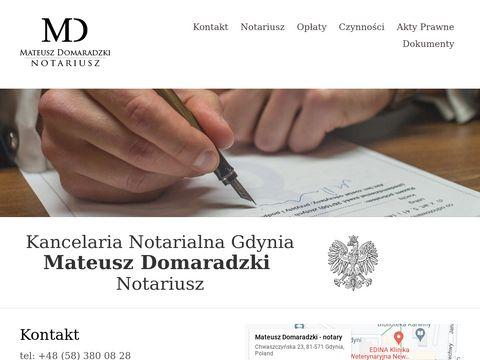 Mateusz Domaradzki - kancelaria notarialna