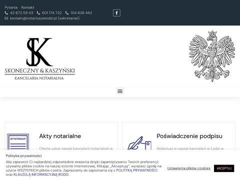 J. Skoneczny i D. J. Kaszyński akty notarialne