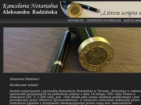 Notariusz.radzinska.pl