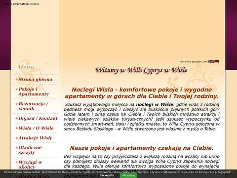 Willa Cyprys - noclegi Wisła centrum