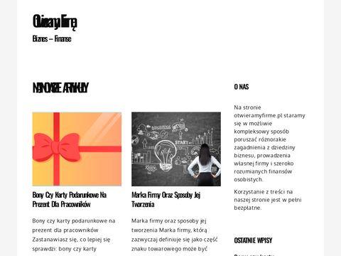 Otwieramyfirme.pl - poradnik własna działalność