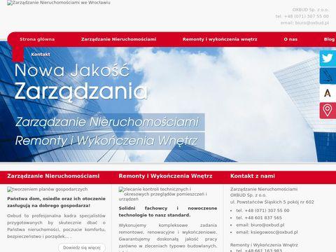 Oxbud montaż kanalizacji Wrocław