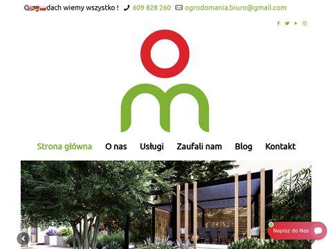 Ogrodomania.com.pl projektowanie ogrodów