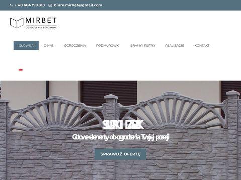 Ogrodzeniabetonowe.mirbet.pl