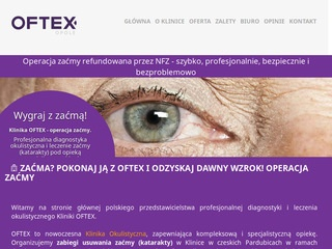 Oftex Opole zaprasza osoby z problemem zaćmy