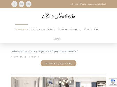 Oliwiadrobnicka.pl aranżacja wnętrz Katowice