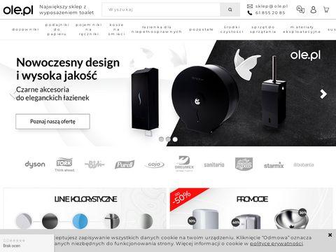 Sklep internetowy www.ole.pl - wyposażenie toalet publicznych