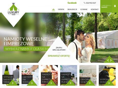 Luxury-tent.pl wypożyczalnia namiotów imprezowych