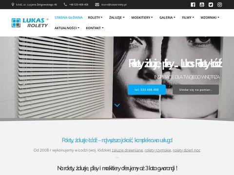Lukasrolety.pl żaluzje drewniane, rolety Łódź