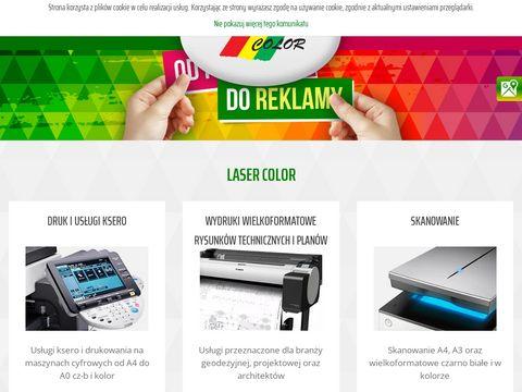Lasercolor.pl banery, wizytówki, pieczątki