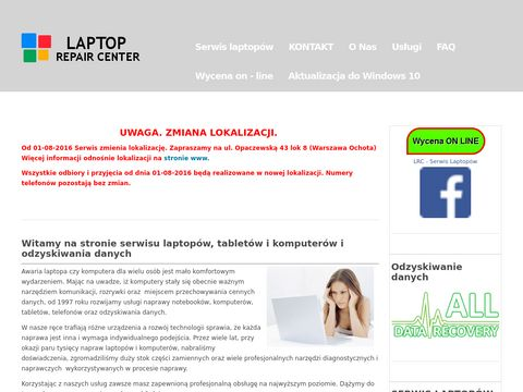 Laptoprepaircenter.pl naprawa laptopów